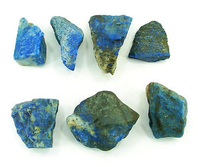 500.00 Ct Natural Blue Lapis Lazuli Loose Gemstone Stone Rough Lot 7 Pcs - 5456