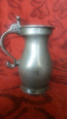 Small C18th Pewter Gill Measure
