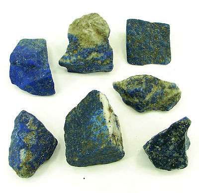 500.00 Ct Natural Blue Lapis Lazuli Loose Gemstone Stone Rough Lot 7 Pcs - 5454