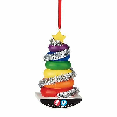 Department 56 Fisher Price Rock a Stack Tree Ornament, 3 inch
