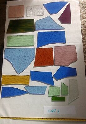 Stained glass for artworks offcuts lot.