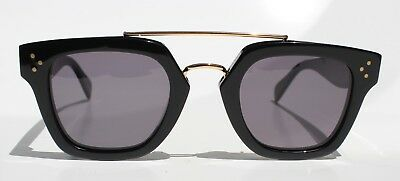 Nwt Original Celine Sunglasses Cl 41077/s 807Bn Black Gray Gradient Lens W/ Case