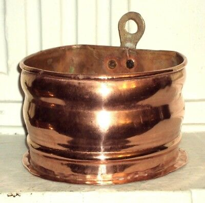 Belle Cache Pot Suspension en Cuivre Ancien !