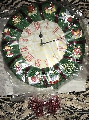2008 Avon 12 Days of Christmas Wreath with Clock NOS