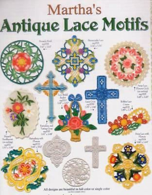 Martha Pullen Embroidery Cd - Antique Lace Motifs