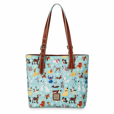Disney Dooney & and Bourke Dogs Print Shopper Tote Bag Purse NWT - SOLD OUT!