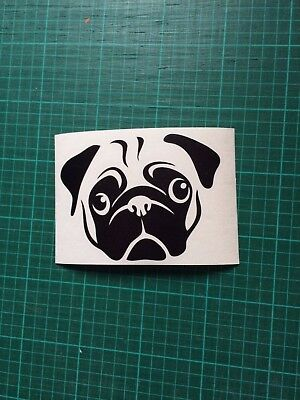 Pug Sticker cute , car van window bumper laptop sticker decal