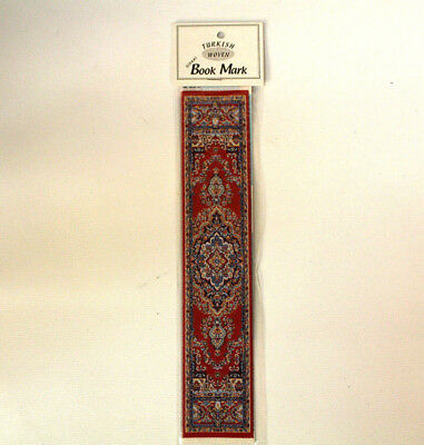 Beautiful Authentic Red Turkish Woven Fabric Rug Bookmark Bookmarker Nice Gift