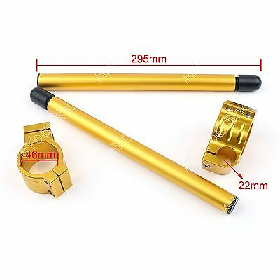 Universal Clip-On Handlebars For KAWASAKI ZX6R ZX9R ZRX1100 46mm GOLD BS5
