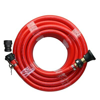 Fire Fighting Hose Kit 20m x 1 inch 25mm ID Fire Rated Outlet Fighter Water Pump