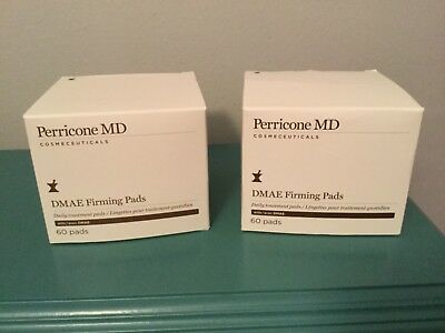 Lot of 2 Perricone MD DMAE Firming Pads 60 Count New in Box Total 120 pads