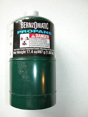 """Bernzomatic """"disposable"""" Propane Fuel Cylinder - 17.4 Oz/497 G (1.08 Lbs.) - New"""