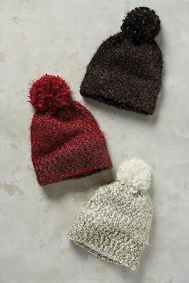 New Anthropologie Sold Out in Stores $38 Tinselknit Pom Beanie, Assorted Colors