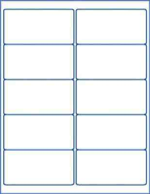250 labels white matte printable sheet blank writable shipping; made in america