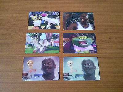 6 Space Jam Movie-Card - Kellogg's - Bugs Bunny, Michael Jordan