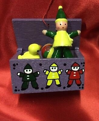 Midwest Wooden Toy Box Ornament hand painted