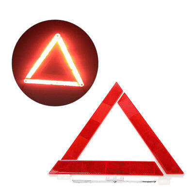 Truck Car Emergency Breakdown Triangle Reflective Safety Hazard Red Warning Sign