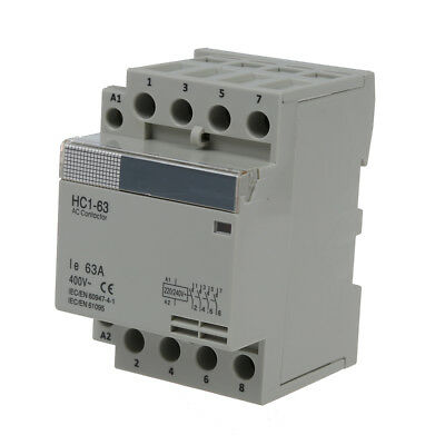 35 mm DIN Support via AC400V 63A 4-pin Modular Household AC Contactor M SK
