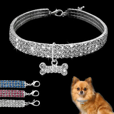 Bling Rhinestone Pet Dog Jewelry Necklace Crystal Jewellery Chihuahua Dog Collar