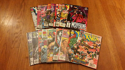 Lot of 20 X-Men Titles Comic Books Wolverine X-Factor X-Force X-Man Marvel