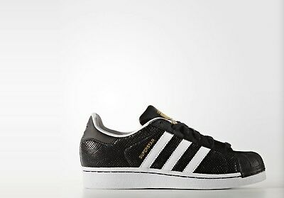 New in Box Adidas Superstar Reptile Shoes Big Kids' Black