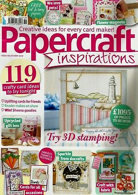 Papercraft Inspirations  Magazine Issue 169  October  2017.    Free Gift