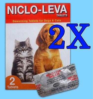 2pcs (4 Tablets) Animal Deworming Tablets for Dog Cat Puppy Good Health