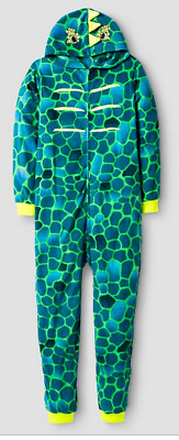 Cat and Jack Boys Lizard Pajamas Sleepwear Size M (8/10)  Long-sleeved w/ hood