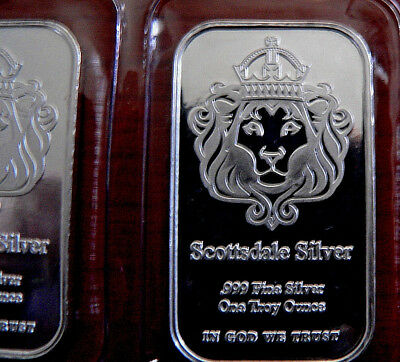 Scottsdale Silver 1 Troy Oz .999 Ag 'The One' Mint Sealed FREEPOST with TRACKING