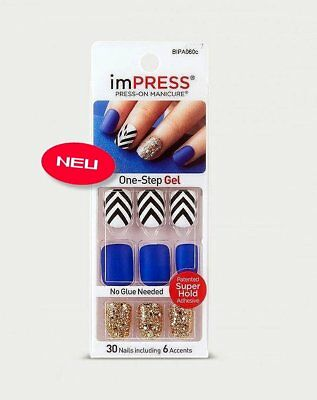 imPRESS Nails SWEPT AWAY Matt kurz Künstliche Fingernägel Press-On Kiss/Broadway