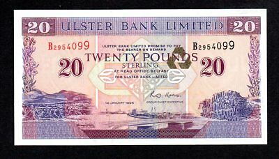 Northern Ireland 1996 $20 UNC Ulster Bank Limited Note B2984099