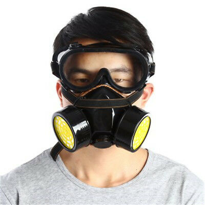 Double Filter Gas Protection Mask Filter Chemical Respirator Mask for Fire Self-