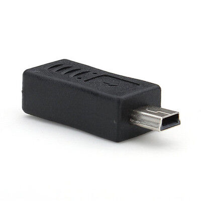 2.0 Micro B Female To Mini-B Male Converter Adapter Charger Connector