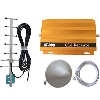 AT980 GSM Signal Booster Repeater Cell Phone Signal Amplifier with Power Adapter