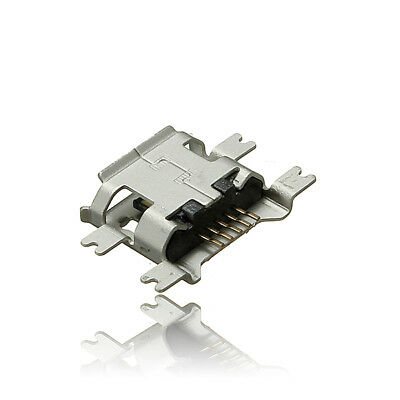 Micro USB Type B Female 5Pin Socket 4Legs SMT SMD Soldering Connector