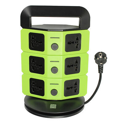 Universal EU Plug Type Socket Wall Charger Rapid Charging Dock Station Green