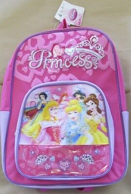 "New Nwt Cartoon Anime Disney Princess School 16"" Backpack Zipper Book Bag"