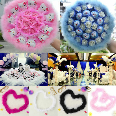 2m Fluffy Feather Boa Strip Fancy Dressup Costume Party Wedding Decor Xmas