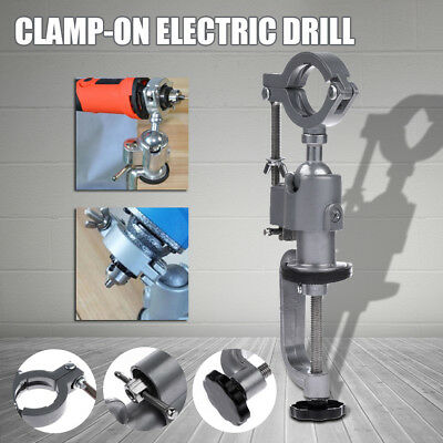 360º Mini Clamp-On Bench Vise Grinder Holder Drill Stand Electric Drill Rotary