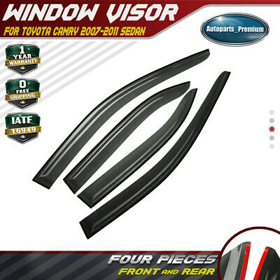 4x Injection Window Visors Vent Rain Guards Shields fit Toyota Camry 2007-2011