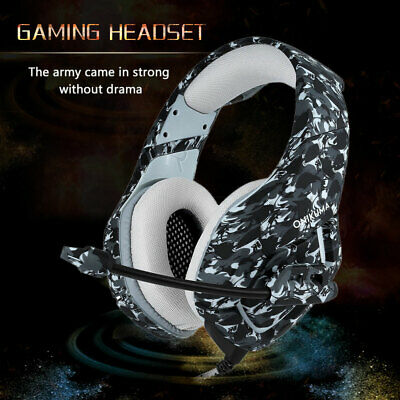 EACH 3.5mm Gaming Headset MIC LED G2000 Stereo for PC Laptop PS4 Xbox One 360 S