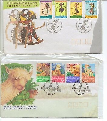 COCOS (KEELING) ISLANDS - 4x Beautiful FIRST DAY COVERS still in plastic