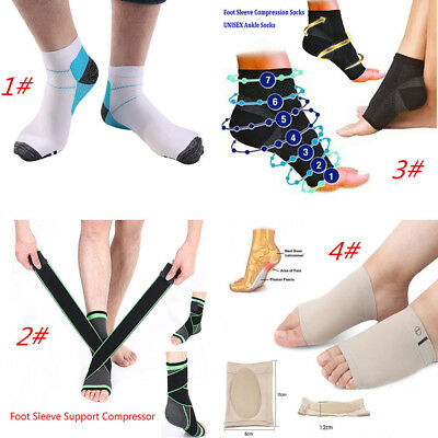 Foot Sleeve Plantar Fasciitis Compression Socks Sore Achy Swelling Heel Ankle MM