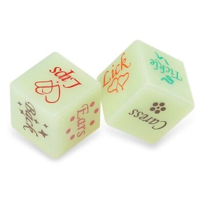 2pcs Dices Pop Funny Adult Love Humour Gambling Sexy Romance Erotic Green Craps