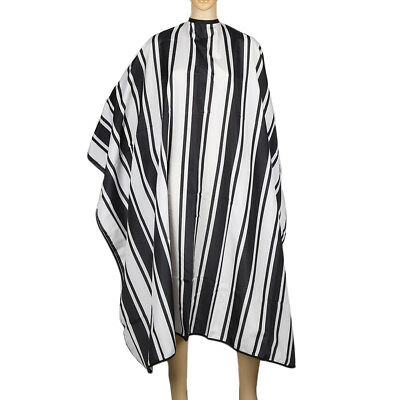Poliester simple Stripe salon peluqueria Cape vestido delantal de corte de pelo