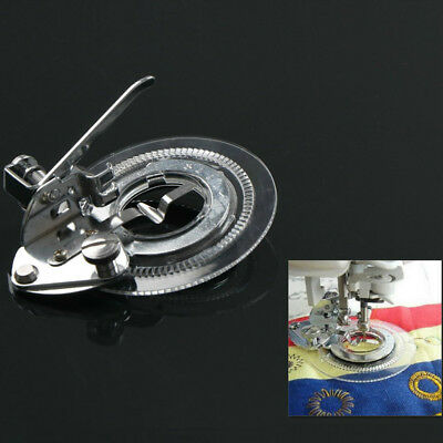 Flower Point Round Stitcher Foot Presser Embroidery Foot For Fit Sewing Machine#