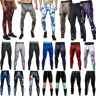Mens Thermal Compression Pants Wear Base Layer Long Tight Leggings Gym Sports