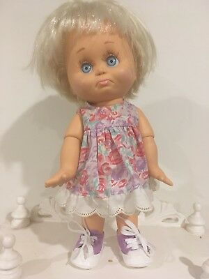 Galoob Baby Face Doll - So Sorry Sarah - Cute Outfit And Shoes