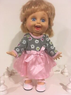 Galoob Baby Face Doll - So Playful Penny - Pretty Dress And Shoes