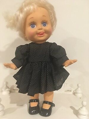 Galoob Baby Face Doll - So Delightful DeeDee - Black Dress And Shoes